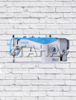 JACK F4 - промышленная одноигольная прямострочная швейная машина со встроенным в голову блоком управления с сервомотором и со светодиодной подсветкой области шитья
