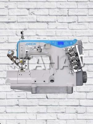 JACK-W4 - высокоскоростная 3-игольная 5-ниточная плраспошивальная машина с плоской платформой и встроенным сервоприводом