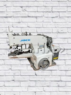 JACK JK-T1377E Промышленный пуговичный полуавтомат для пришивания плоских пуговиц П-образным и Х-образным стежком